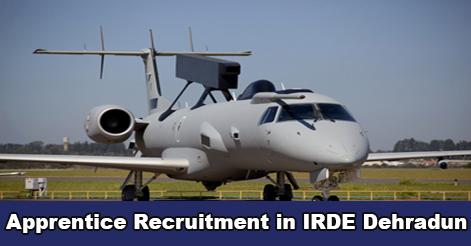 Apprentice Recruitment in IRDE Dehradun