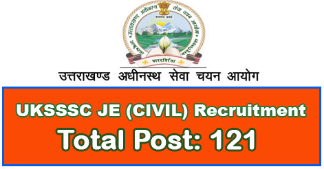 Junior Engineer (Civil) Recruitment in UKSSSC