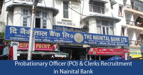 PO Clerk Recruitment in Nainital Bank