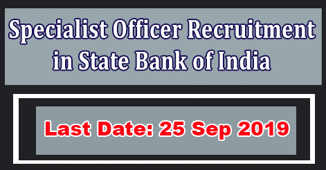 Specialist Officer (SO) Recruitment in SBI