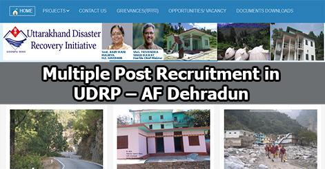 Multiple Post Recruitment in UDRP – AF Dehradun