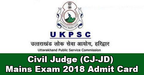 UKPSC Civil Judge Admit Card