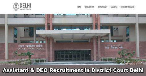 Assistant & DEO Recruitment in Tis Hazari Courts, Delhi