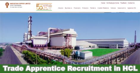 Trade Apprentice Recruitment in Hindustan Copper Limited (HCL)