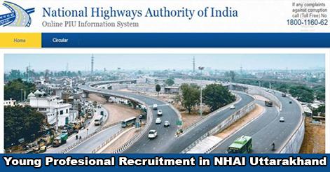 Young Professional (Finance) Recruitment in NHAI Uttarakhand