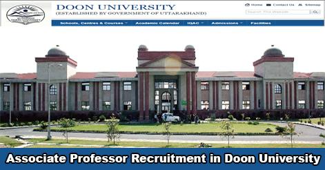 Associate Professor Recruitment in Doon University