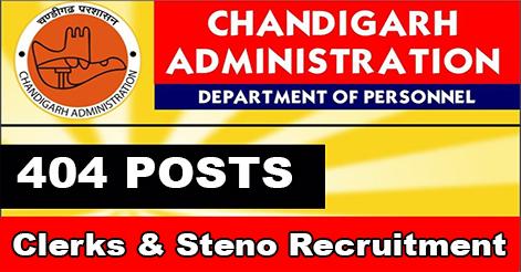 Clerks & Steno Recruitment in Chandigarh Administration