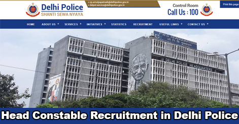 Head Constable Recruitment in Delhi Police