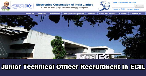 Junior Technical Officer (JTO) Recruitment in ECIL