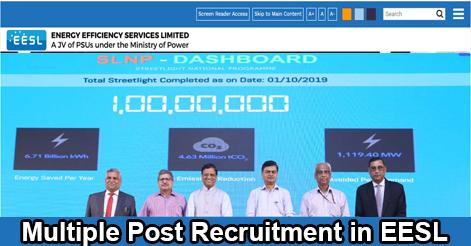 Multiple Post Recruitment in EESL