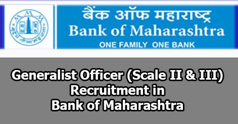 Generalist Officer Recruitment in Bank of Maharashtra