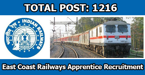 Trade Apprentice Recruitment in East Coast Railway