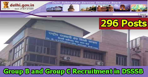 Assistant, Steno & Store Keeper Recruitment in DSSSB