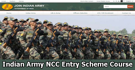 Indian Army Recruitment NCC Entry Scheme 48th Course