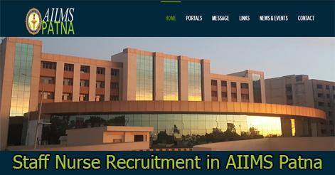 Staff Nurse Recruitment in AIIMS Patna