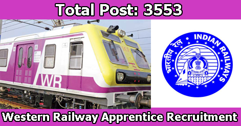 Trade Apprentice Recruitment in Western Railway
