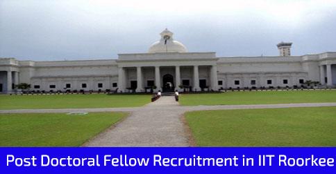 Post Doctoral Fellow Recruitment IIT Roorkee