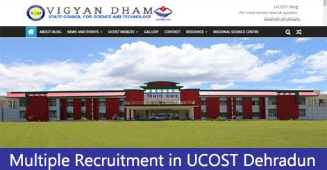 Multiple Recruitment in UCOST Dehradun