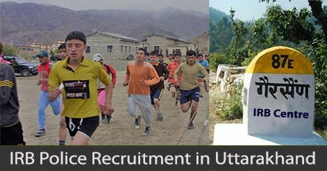 IRB Recruitment Uttarakhand