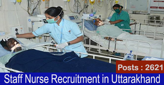 Staff Nurse Recruitment in Uttarakhand