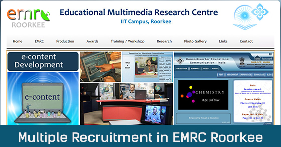 Recruitment in EMRC Roorkee