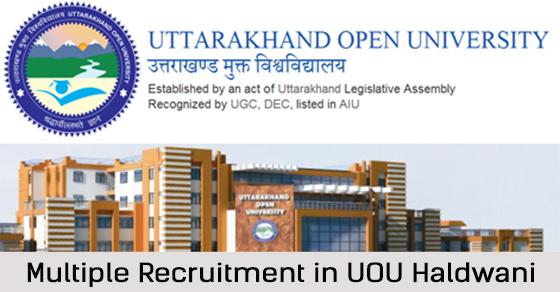 Recruitment in UOU Haldwani