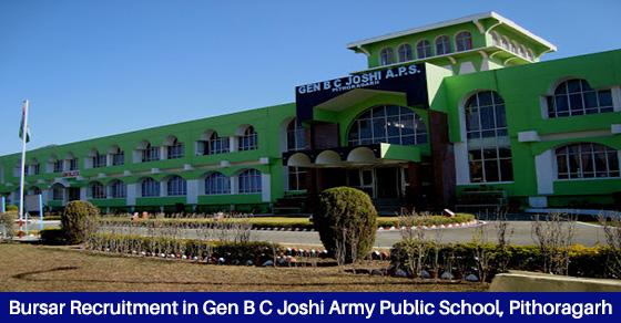 Recruitment in Gen B C Joshi Army Public School Pithoragarh