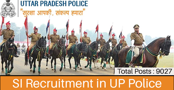 SI Recruitment in UP Police