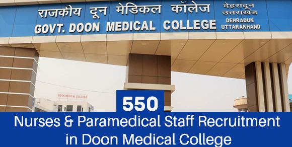 Nurses & Paramedical Staff Recruitment in Doon Medical College