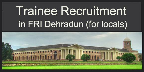 Trainee in FRI Dehradun