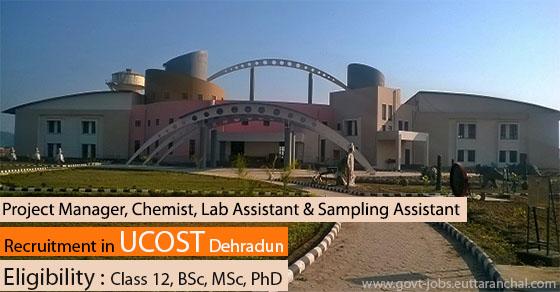 Recruitment in UCOST Dehradun
